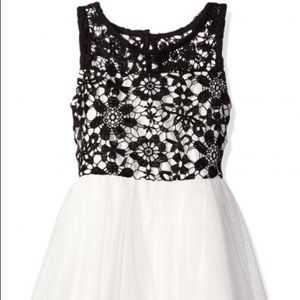 My Michelle Mesh Dress w/ Crochet Illusion Bodice